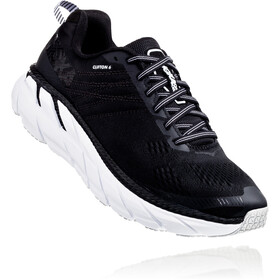 Hoka One One Clifton 6 Running Shoes Damer, black/white